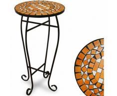 Table guéridon pot de fleur mosaique 62x34cm - Terracotta - Jardin Balcon - DEUBA