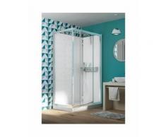 Cabine de douche EDEN + Rectangle porte pivotante 100x80 - KINEDO