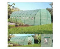 Grande serre de jardin tunnel maraîchère Pro galvanisée 24m² 8x3x2m - PROBACHE