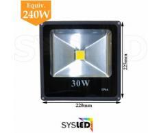 Projecteur LED Intérieur/Extérieur Extra Plat Blanc Froid 10W, 20W, 30W, 50W (Nouveau !) |