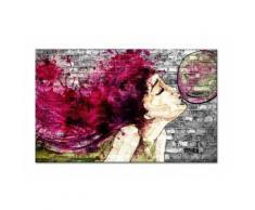 BUBBLE Tableau déco toile imprimée 80x50 cm violet - HEXOA