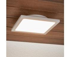 Plafonnier LED Mabella applique gris argenté capteur à micro-ondes rectangulaire - LAMPENWELT