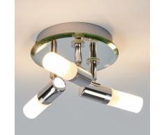 Plafonnier Jilian Salle de bain Plafonnier de salle d'eau Chromé 3 lampes - LAMPENWELT