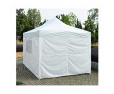 Tonnelle tente de reception pliante pavillon chapiteau barnum 3x4,5m blanc 70w - HOMCOM
