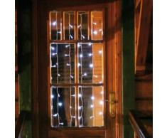 Rideau lumineux 100 LEDS 135 x 135 cm blanc
