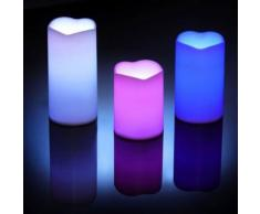 Lot de 3 bougies LED 12 couleurs changeantes