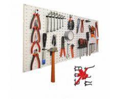 Panneaux perforés porte outils muraux avec 60 crochets gratuits