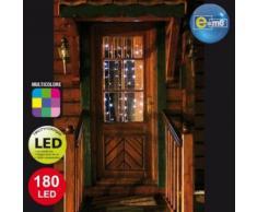 Rideau lumineux multicolore 180 LED 2 x 2m