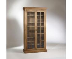 Vitrine, chêne, 5 étagères, 2 portes, HENRY,