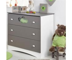 Commode 3 tiroirs Sybelle, taupe,