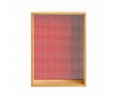 Brad Étagère murale 30x40cm en fibre et métal rouge Alinea Naturel