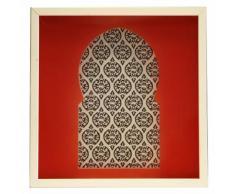 Beni Affiche porte rouge orientale encadrée dans une vitrine 30x30cm Alinea Rouge
