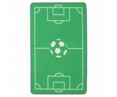 Foot Tapis rectangulaire 80x120cm pour enfant motif terrain de foot Alinea Vert