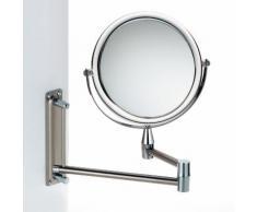 Miroir grossissant salle de bain mural en métal chromé et acrylique GRAZIA