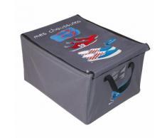 Boite de rangement tissu Mes chaussures 50x40x28.5cm BASICS