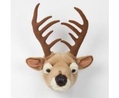 Trophée peluche tête d'animal 100% polyester et fibres Trophy Cerf