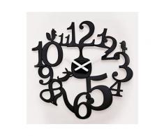 Horloge murale en plastique D.45 cm PIP Noir