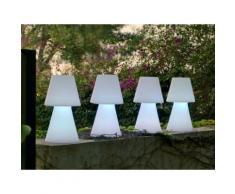 Lampe à poser extérieure en polyéthylène blanc Lola 45cm