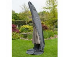 Housse de protection parasol déporté diam.25/70xH302 cm gris/noir GRAPHITE