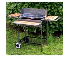 Barbecue charbon en acier 58 cm sur chariot MOLOV