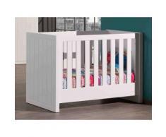 Lit bébé à barreaux en bois laqué avec sommier pour couchage 60 x 120 cm ROBIN