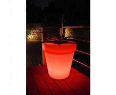 Pot de fleur rond lumineux LED en plastique avec variateur couleur diamètre 60cm Flower