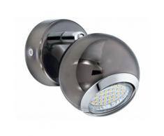 Spot simple LED orientable en métal finition canon de fusil diamètre 7cm Bowl
