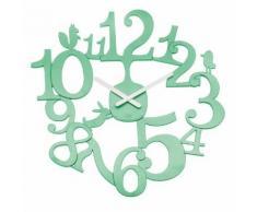 Horloge murale en plastique D.45 cm PIP Vert d'eau