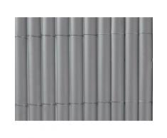 Canisse en PVC simple face Gris 1m