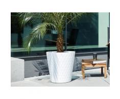 Pot de fleur rond en polyéthylène imitation céramique Pure Blanc 47cm