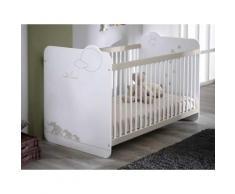 Lit bébé à barreaux en bois avec sommier réglable Dimensions : 60x120cm JUNGLE
