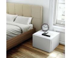 Chevet avec tiroir en bois Hauteur 31 cm FLOAT Blanc mat