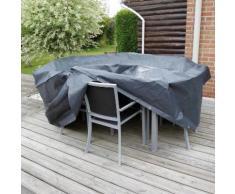 Housse de protection canapé 2 places 90x170xH60 cm gris/noir GRAPHITE