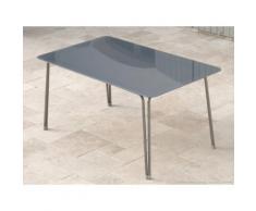 Table de jardin en acier 150x90x72.5 cm grise