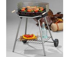 Barbecue Charbon ATHENES Rond fonte sur chariot 51x33cm