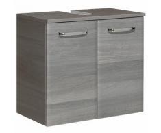 Meuble sous-lavabo 2 portes Longueur 60 cm WILLIAMS Graphite Seul