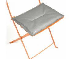 Coussin rectangle pour chaise de jardin pliante BISTRO Gris métal