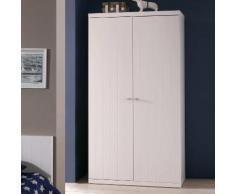 Armoire de chambre en bois laqué Hauteur 204.5 cm ROBIN 2 portes