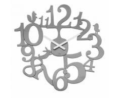 Horloge murale en plastique D.45 cm PIP Gris