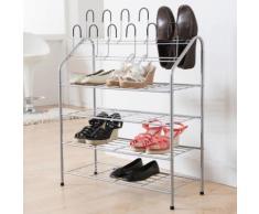 Etagère à chaussures en métal laqué + 12 supports verticaux 69.5x27.5x88cm Harry