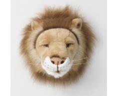 Trophée peluche tête d'animal 100% polyester et fibres Trophy Lion