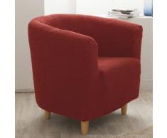 Housse de fauteuil cabriolet/club unie bi-extensible coton/polyester LISA Rouille