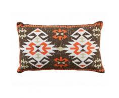 Coussin rectangulaire 100% coton motif apache multicolore 50x30cm SANTA FE