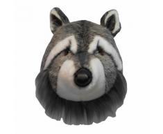 Trophée peluche tête d'animal 100% polyester et fibres Trophy Raton laveur