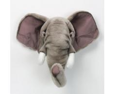 Trophée peluche tête d'animal 100% polyester et fibres Trophy Elephant