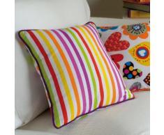 Coussin déco 100% coton déhoussable pois multicolores 40x40cm LES COLORISSIMES