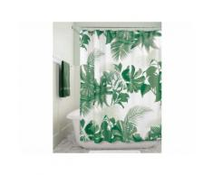 Rideau de douche 100% polyester motif feuilles tropicales 183x183cm FERN