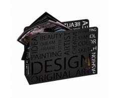Porte revues en acier ajouré Design 35x10x26cm Pop Noir