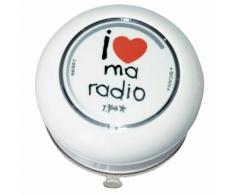 Radio de douche en polypropylène I Love My Radio D.9.5cm BASICS