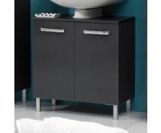 Meuble sous-lavabo 2 portes Longueur 60 cm WEASLEY Anthracite Seul
